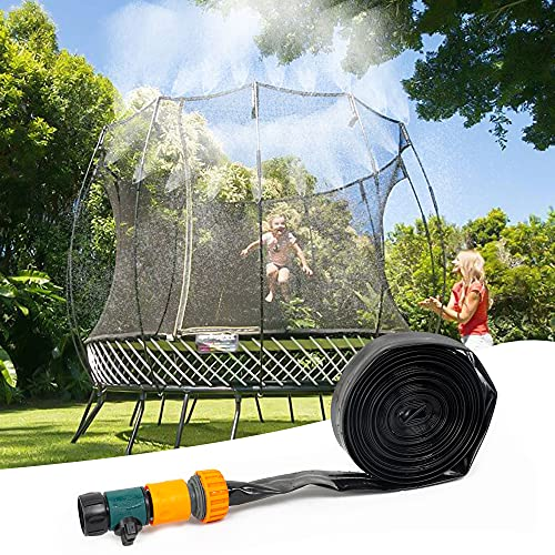 FUNPENY Trampoline Sprinkler for Kids, Outdoor Trampoline Water Accessories Hose, Fun Summer Water Play Games in Yard for Boys Girls (39FT)