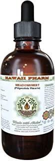Meadowsweet Alcohol-FREE Liquid Extract, Meadowsweet (Filipendula Ulmaria) Herb Glycerite Natural Herbal Supplement, Hawaii Pharm, USA 2 oz
