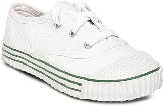 PARAGON Unisex Kid's White School Shoes-7 UK (30 EU) (A1CA0001KWHT00007G199)