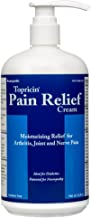 Topricin Pain Relief Therapy Cream (32 oz) Fast Acting Pain Relieving Rub for Back & Neck Aches, Fibromyalgia, Sciatica, Plantar Fasciitis, Sore Muscles & Joints, Carpal Tunnel, Chronic Pain