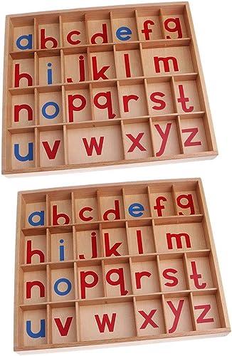 F Fityle 2er-Set Montessori Sprache Deutsche Buchstaben Alphabet P gogisches Spielzeug