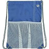 SailorBags Bolsa con cordón, color azul/gris, tamaño talla única