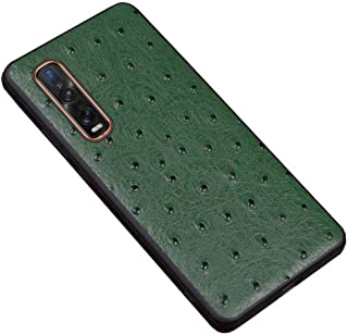 For Oppo Find X2 Pro 6.7 Inch Case, Ostrich Pattern Leather Phone Shell Anti-Fall Shockproof Phone Protective Back Cover,G...