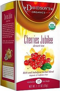 Davidson's Tea Dessert Tea/Cherries Jubilee, 25 Count Tea Bags