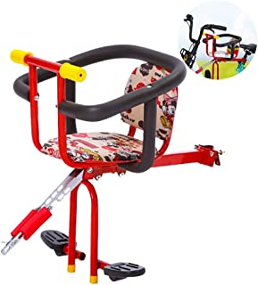 COKECO Seggiolino Bici Posteriore per Bambini,Bambini Sedile Posteriore,Seggiolino Bici per Bambini Anteriore Portatile sgancio rapido Mountain Bike seggiolino per Bambino seggiolino
