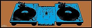 Culturenik Steez DJ Deck (Turntable) Tech 1200 Urban Graffiti Music Art Print (Unframed 12x36 Poster) (Unframed 12 x 36 Poster)