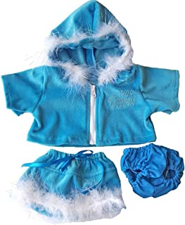 Blue Princess Sparkle Outfit Teddy Bear Clothes Fits Most 14