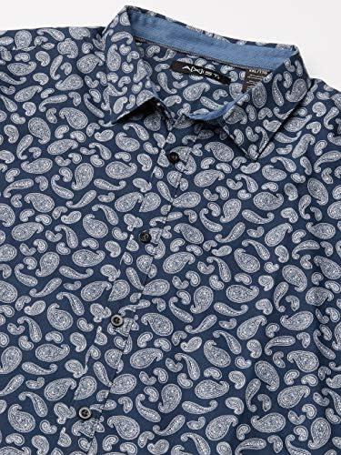AXIST Camisa de Manga Larga para Hombre con Estampado ...
