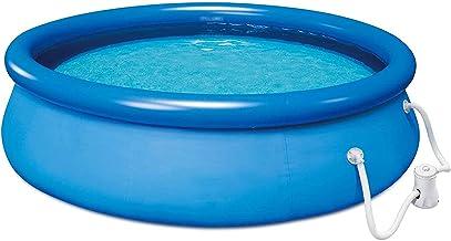 DPPAN Piscina Inflable para niños Adultos, 13 pies x 33 en Piscinas Redondas, Sencillo Piscina con Bomba de Aire, para al Aire Libre, Patio, Acolchado de jardín Piscina,Blue