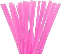 10 Inch Drinking Straws (250 Straws) (10 Inch x 0.28 Inch) (Hot Pink)