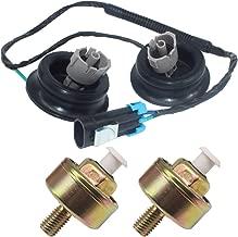 10456603 Knock(Detonation) Sensor with Connector Harness Pair Kit Set for Cadillac,Chevy,GMC,Silverado,Sierra,Cadillac,12601822