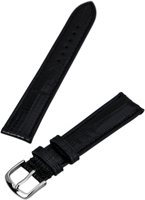 Sales results No. 1 Hadley Roma MS801 18mm Regular Black B Watch Arlington Mall Lizard Teju Genuine