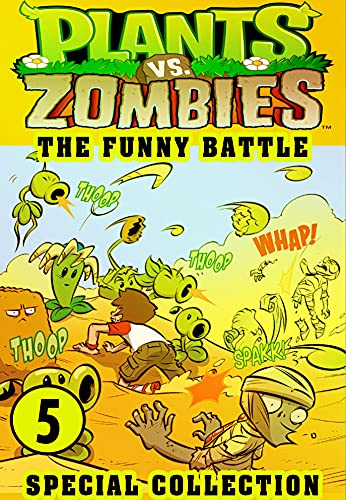 Plants vs Zombies Funny Battle 5: Collection Book 5 - Funny Plants vs Zombies Comics Adventures Graphic Novels Game (English Edition)