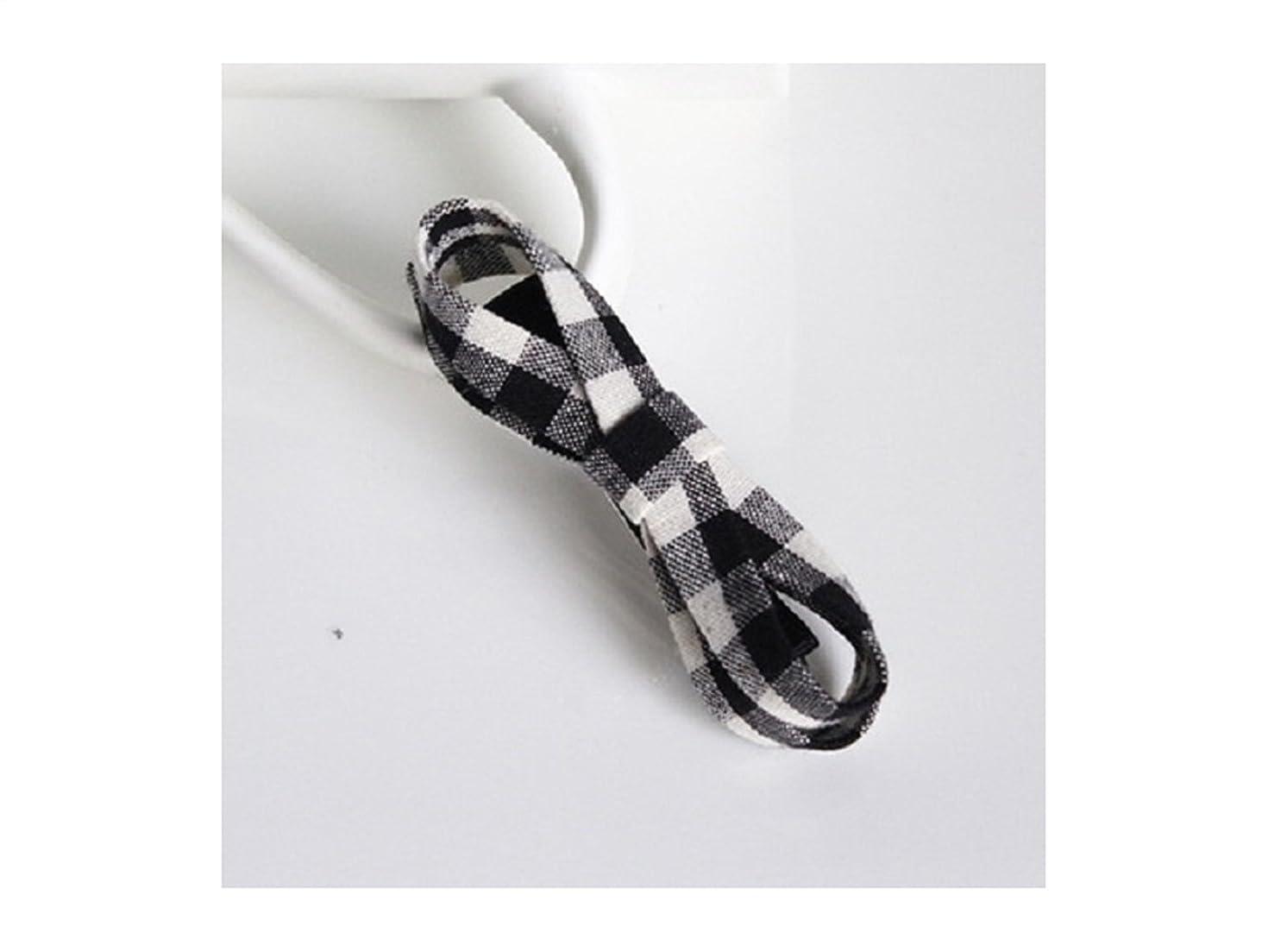 カウンタ関係レンズOsize 美しいスタイル ボウヘアアクセサリーヘッドドレスマルチレイヤーファブリックサイドクリップヘアピン(ブラック+ホワイト)