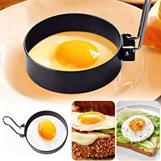 Stainless Steel Egg Ring,2 Pack Round Breakfast Household Mold Tool Cooking,Round Egg Cooker Rings For Cooking Egg Maker M...