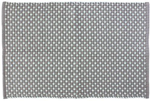 Gelco Design 711048 Tapis de Bain, Coton, Gris/Bleu, 90 x 60 x 1,1 cm