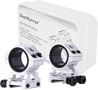 WestHunter Optics High/Low Profile Picatinny Scope Rings, 1 Inch 30 mm Tube Scope Mount for Tactical Precision Shooting