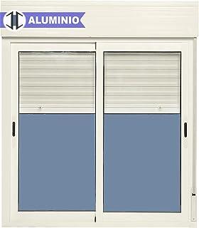Ventana Aluminio Corredera Con Persiana PVC 1200 ancho × 1355 alto 2 hojas