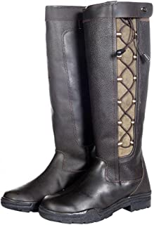 Hkm Laced Waterproof Leather Boot -Madrid- 5149 Country Riding Yard Walking