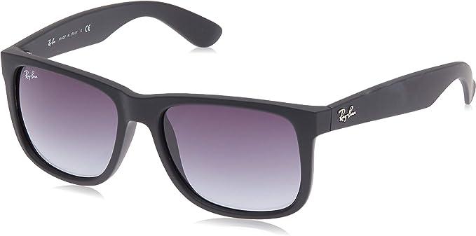 Ray-Ban Justin Rb4165 C55, Gafas de Sol para Hombre, Rubber Light Havanna/marrón gradiente, Einheitsgröße
