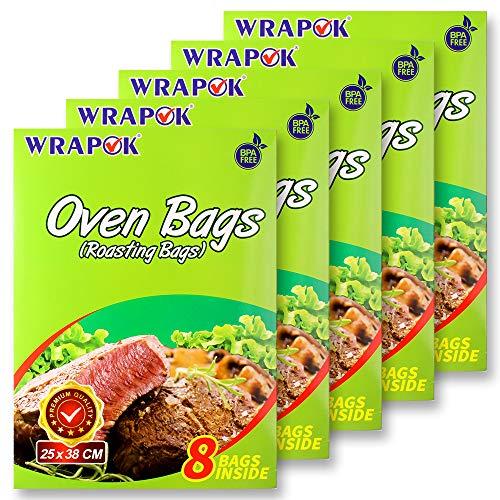 WRAPOK Bratbeutel Kochen Ofen Taschen Kleine - 40 Stück (43 x 55 cm) Für Mikrowellen die Türkei Huhn Fleisch Geflügel Fisch Meeresfrüchte Gemüse