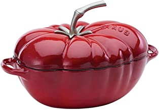 STAUB Cast Iron Tomato Cocotte, 3-quart, Cherry