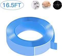 Double Sided Nano Tape, BonFook Resuable Traceless Washable Adhesive Tape, Easy Removable Sticky Strips, Anti Slip Carpet Tape for Paste Posters, House Decoration and Office Use