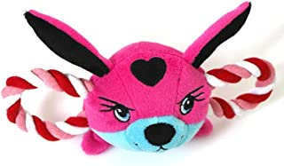 Yamalans Cartoon Bird Fox Animal Head Shape Cat Puppy Dog Pet Plush Squeaky Rope Toys