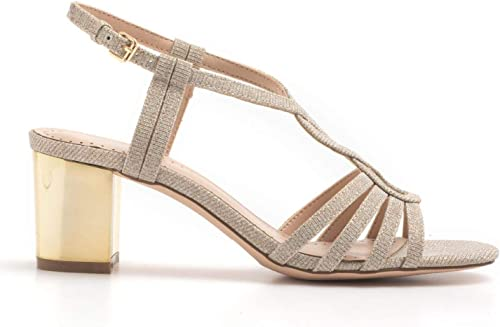 Bibi lou - or Medium Heel Sandals in Champagne Fabric with - 927Z96GT Champagne