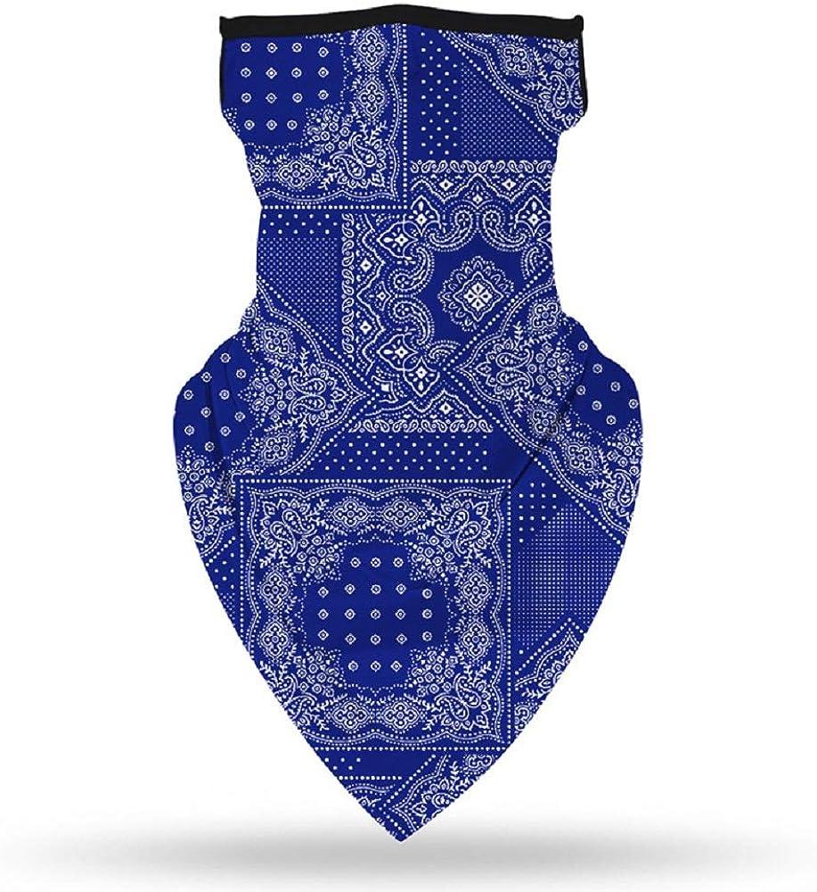 Bandanna Face Mask with Ear Loops,Bandanna Mask Face Bandana Neck Gaiter Washable Reusable for Men Women 1 Pc Christmas Gift