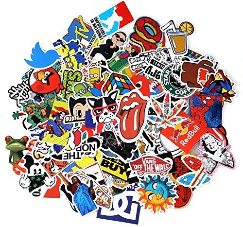 Neuleben Aufkleber Pack [100-pcs] Graffiti Sticker Decals Vinyls für Laptop, Kinder, Autos, Motorrad, Fahrrad, Skateboard Gepäck, Bumper Sticker Hippie Aufkleber Bomb wasserdicht (Serie-1)