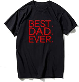 Gift for Dad Letters Best Men's T-Shirt Short Sleeve O Neck Cotton Casual Top Tees Camisas
