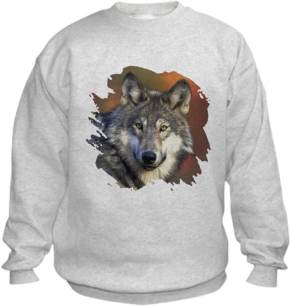 CafePress Gray Wolf Kids Sweatshirt Kid Sweatshirt