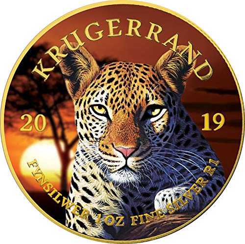 Power Coin Leopard Krugerrand Big Five 1 Oz Silber Münze 1 Rand South Africa 2019