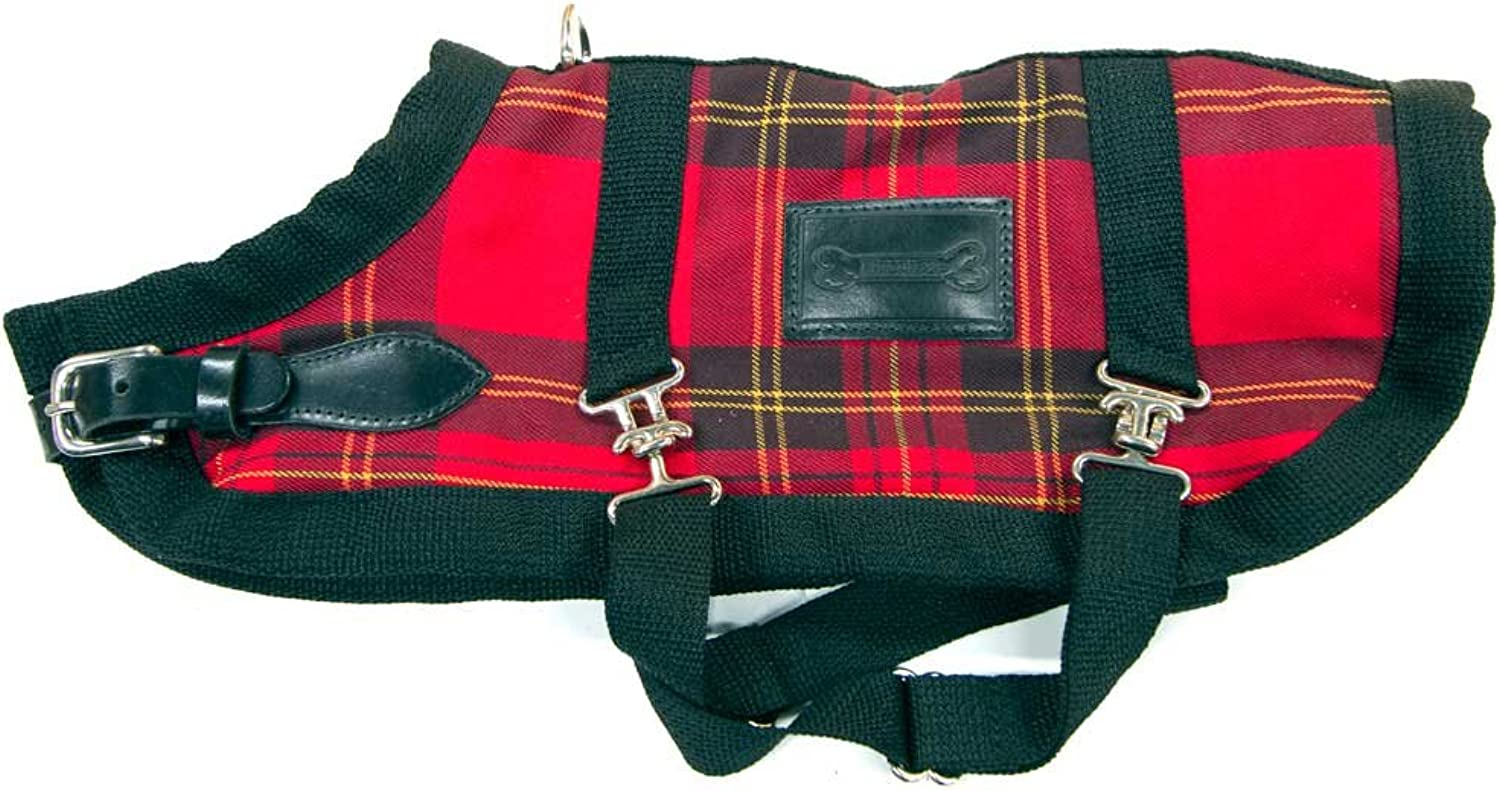 blueemax 24.5Inch Dog Coat, XLarge, Red Plaid