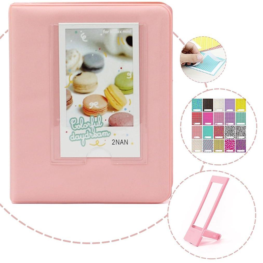 Wogozan Candy bookshelf Album for instax mini film,64 Pockets for instax mini 9 film 3 inch Photos - Light Pink