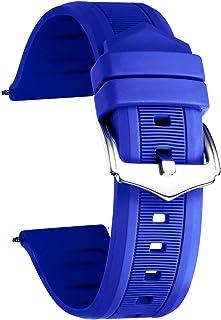 Correa de Goma de Silicona para Reloj Inteligente, Color (Blanco, Rojo, Negro, Azul, Naranja) Tamaño (12 mm, 14 mm, 16 mm, 18 mm, 19 mm, 20 mm, 21 mm, 22 mm, 24 mm)