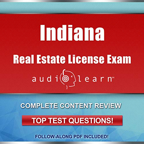 Indiana Real Estate License Exam  audiobook cover art