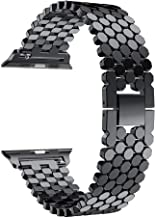 ساعة ابل سيريس 1 - 38 ملم هيكل من الالمنيوم و سوار من الستانلس ستيل لون اسود - MMF2