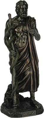Veronese Design Asclepius Greek God of Medicine Bronze Finish Statue