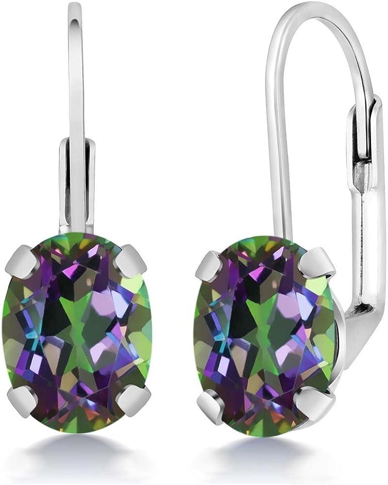 Gem Stone King 925 Sterling Mystic 1 Seasonal Wrap Introduction year warranty Topaz Earrings Silver Green