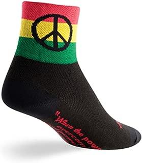 SockGuy Classic 3in Peace 3 Cycling/Running Socks