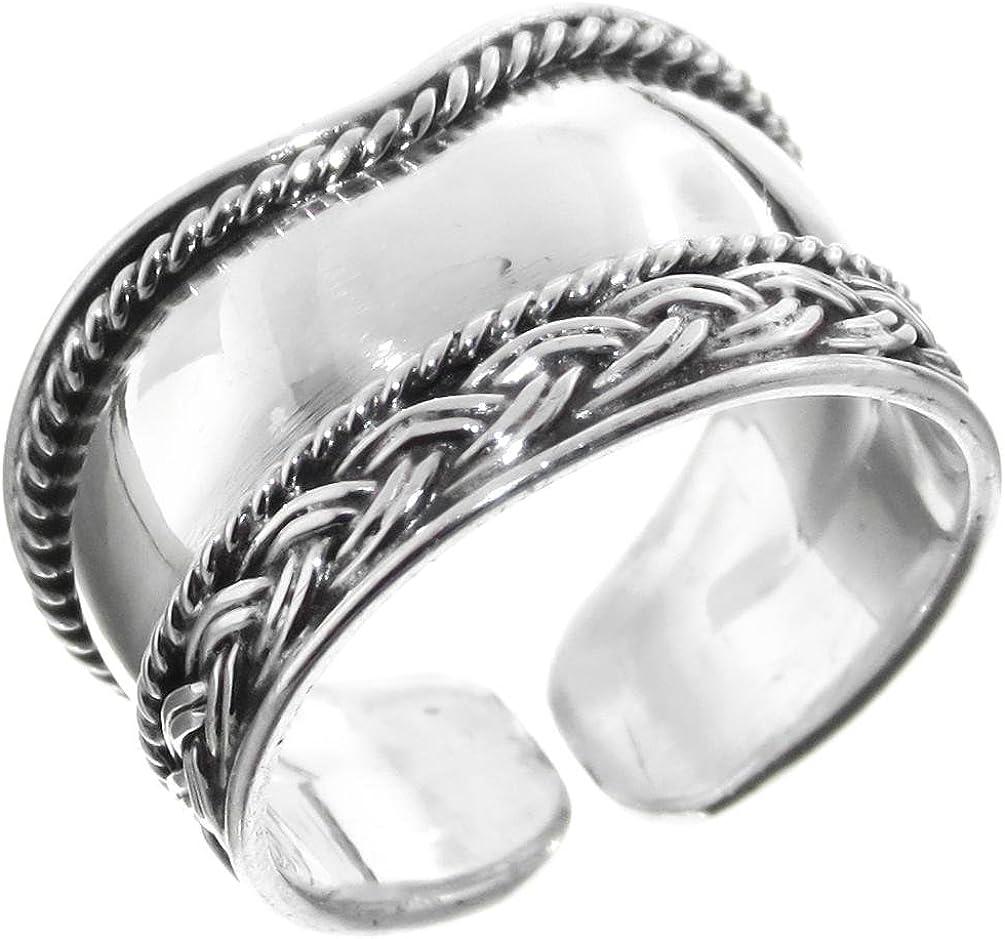 Bali Handmade Filigree Albuquerque Mall 925 Max 57% OFF Sterling Silver Toe Adjustable Ring
