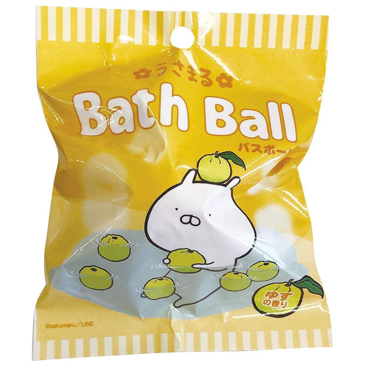 笑数コンパイルうさまる 入浴剤 バスボール おまけ付き ゆずの香り 60g ABD-020-001