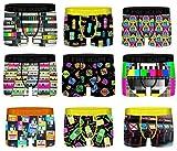 Ozabi – Pack de 4 bóxers sorpresa Freegun de microfibra, varios modelos de fotos según disponibilidad, multicolor Pack Multimédia L