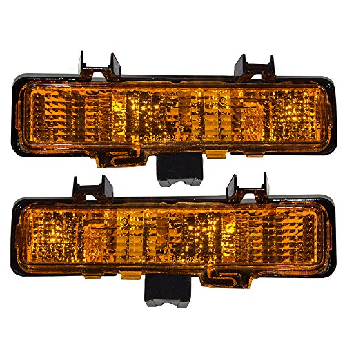 Aftermarket Replacement Driver and Passenger Set Park Signal Front Marker Lights Compatible with 1982-1993 S10 S15 Pickup Truck 5976643 5976644