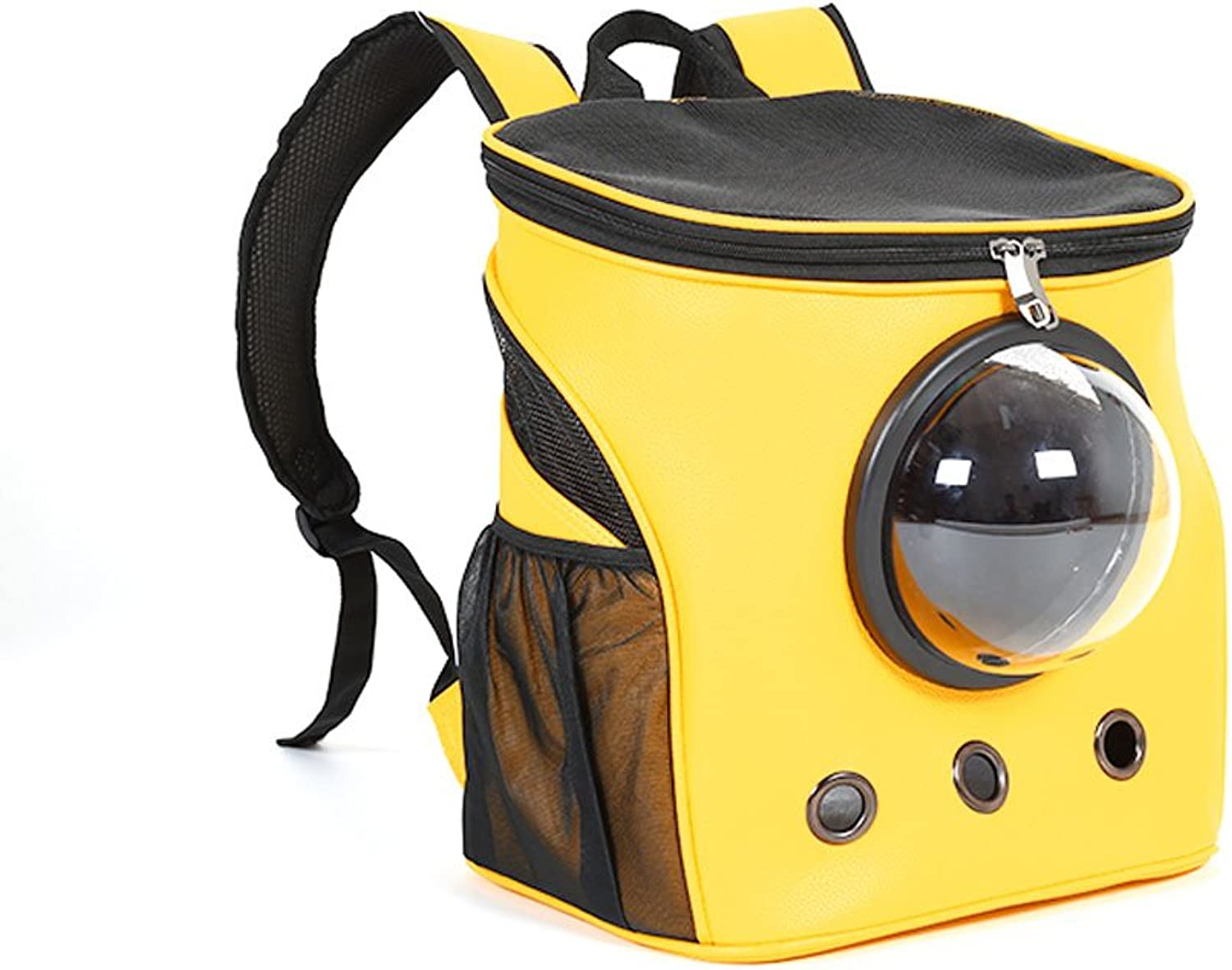 MEI Kennels Pet Backpacks, Cat Packs, Travel Bags, Teddy, Bichon, Outing Shoulder Bags, Dog Bags, Dog Bags, Pet Supplies (color   Yellow)