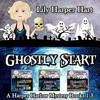 Ghostly Start     Harper Harlow, Books 1-3              By:                                                                                                                                 Lily Harper Hart                               Narrated by:                                                                                                                                 Angel Clark                      Length: 19 hrs and 5 mins     16 ratings     Overall 4.4