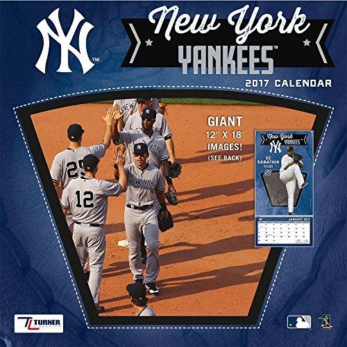 "Turner Licensing Sport 2017 New York Yankees Team Wall Calendar, 12""X12"" (17998011857)"