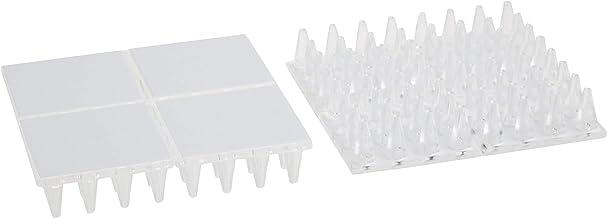 """SoftTouch Zelfklevende Anti-Dent Tapijt Beschermers voor Korte Loop Tapijt (3/8""""H) - (2 stuks), Helder 4 stuks 4"""" Square"""